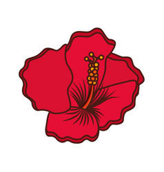 Exotic and tropical flower icon vector