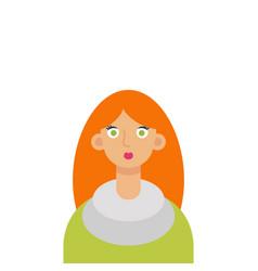 flat girl student vector image