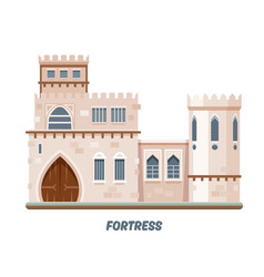 fortress castle or medieval kingdom fort towers vector image