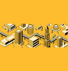 Future metropolis streets background vector