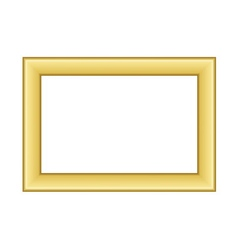 Gold frame Beautiful golden white vector