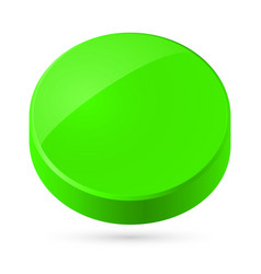Green disk isolated on white background vector