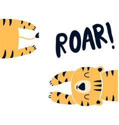 hand drawing tiger vector image