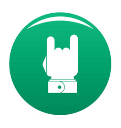 hand music icon green vector image