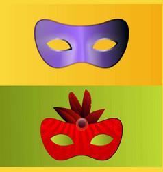 Happy brazilian carnival day set of 2 carnival vector