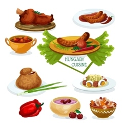 Hungarian cuisine icon for restaurant menu design vector