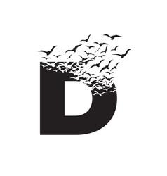 Letter d with effect destruction dispersion vector