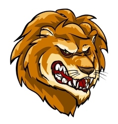 Lion mascot team label design vector image