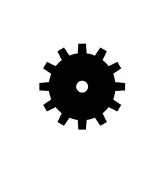 machine gear machinery mechanism icon vector image
