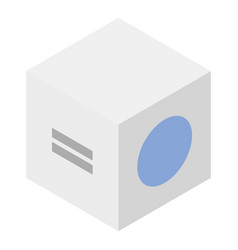 medical cube device icon isometric style vector image