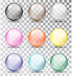 multi-colored glass balls vector image
