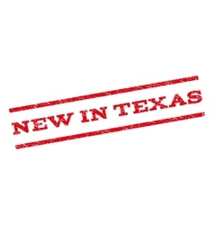 New In Texas Watermark Stamp vector image
