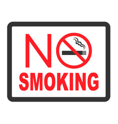 No smoking black color sign on white background vector