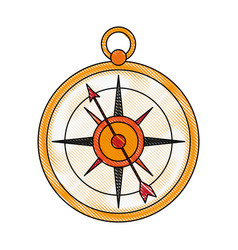 old navigation compass vector image