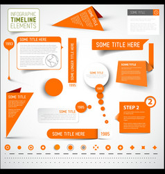 Orange infographic timeline elements template vector