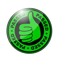 Passed thumbs up icon vector