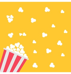 Popcorn bag Cinema icon in flat design style vector image