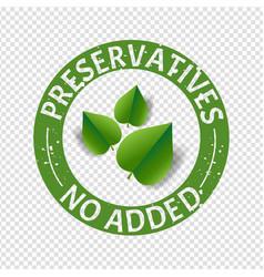 preservatives free natural food stamp transparent vector image