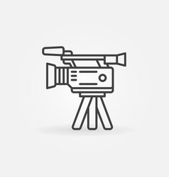 professional video camera icon vector image