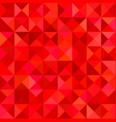 Red triangle tile mosaic background vector