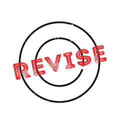Revise rubber stamp vector