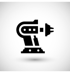 Robotic machine part icon vector image