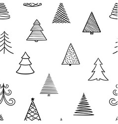 seamless pattern hand drawn doodle sketch vector image