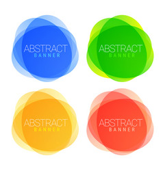set modern multicolored abstract banners vector image