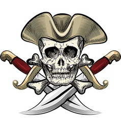 Skull in the hat vector image