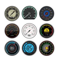 Speedometer car speed dashboard panel vector