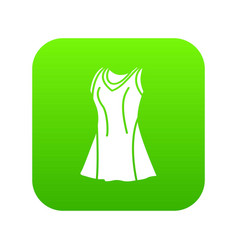 tennis female form icon green vector image