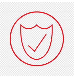 Thin line secure icon design vector
