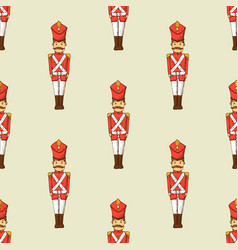 Toy soldier seamless pattern vector