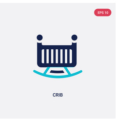 Two color crib icon from furniture concept vector