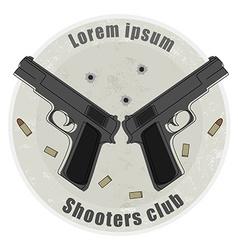 Two pistols emblem vector