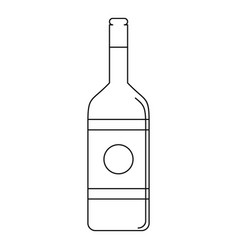 vodka icon outline style vector image