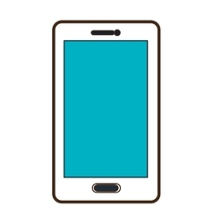 White smartphone graphic vector