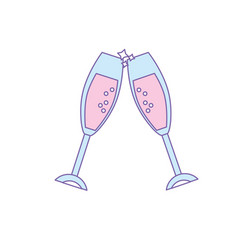 Wine glass to celebrate of important day vector