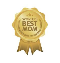 World best mom badge award vector