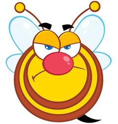 Angry Bee Cartoon Character vector image