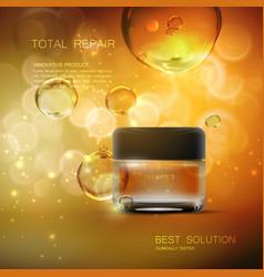 Beauty anti aging cream ads vector