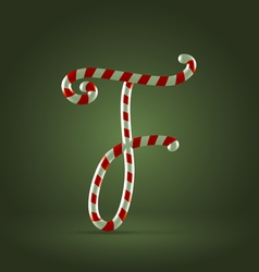 Candy cane abc F vector image vector image