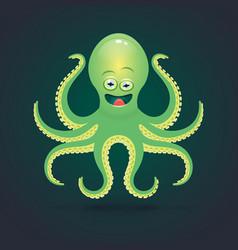 cartoon octopus isolated on vector image