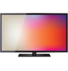 TV flat screen lcd plasma realistic vector image