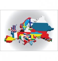 3d European map vector image