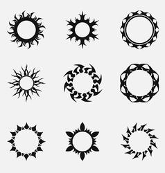 Circle tribal ornaments vector image vector image
