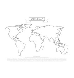 outlines world map vector image