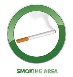 Smoking area label smoking area icon info sign vector