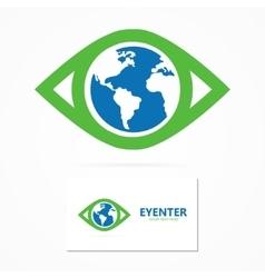 World eye design template vector image