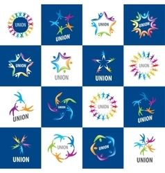 collection of signs alliances vector image vector image